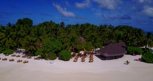V12863 resort in maldives white sand beach tropical islands with drone aerial flying birds eye view with aqua blue sea Stock Photography