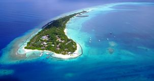 V12936 resort in maldives white sand beach tropical islands with drone aerial flying birds eye view with aqua blue sea Stock Image