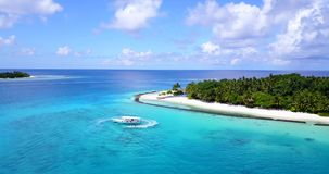 V12860 resort in maldives white sand beach tropical islands with drone aerial flying birds eye view with aqua blue sea Royalty Free Stock Photo