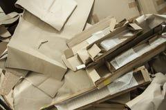 V?rias caixas de cart?o Produ??o Waste Empacotamento de papel imagem de stock royalty free