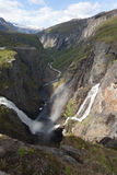 Voringsfossen Waterfall Stock Photo