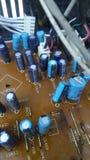 V?rios componentes eletr?nicos fotografia de stock royalty free