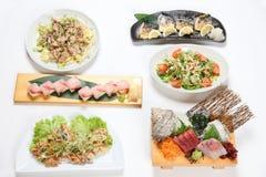 V?rios pratos japoneses imagens de stock royalty free