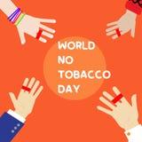 V?rld ingen tobakdag stock illustrationer