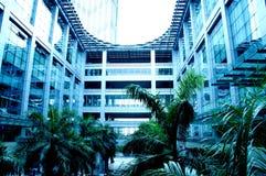 V?rldens st?rsta m?sshall, byggnad, Guangzhou Pazhou internationell utst?llningmitt royaltyfria foton