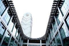 V?rldens st?rsta m?sshall, byggnad, Guangzhou Pazhou internationell utst?llningmitt arkivfoto