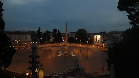V in Rome night view stock footage