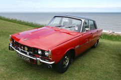 1971 V8 Rover. A 1971 V8 rover SC shown at the Whitstable classic car show June/2013, ideal picture for car show advertising and Rover enthusiasts Royalty Free Stock Image
