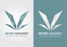 V símbolo del icono de la victoria de una letra V del alfabeto Fotos de archivo