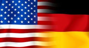 V.S.-Duitse Vlag Royalty-vrije Stock Afbeelding