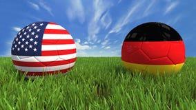 V.S.-Duitsland Royalty-vrije Stock Fotografie