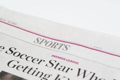 V.S.-Februari 2017 van Chicago 11-12: De Wall Street Journal-Krant, het redactie slechts gebruik van Sportensectionfor royalty-vrije stock foto's