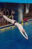 V Saltos de Shevchenko Fotos de Stock Royalty Free
