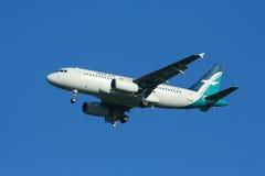 9V-SBA Airbus A319-100 de Silkair Imagem de Stock Royalty Free
