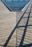 V-Shape i strandpromenad Royaltyfri Fotografi