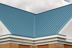 V-shape roof Valley Royalty Free Stock Photo
