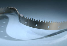 V-Shaped Metal Belt Stock Image