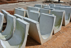 V-shaped trench drain at the construction site Royalty Free Stock Image