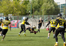 V. Shtanko (12) fall down getting ball royalty free stock photos