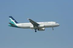 9V-SLD Airbus A320-200 of Silkair Stock Photo