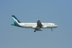9V-SLD Airbus A320-200 of Silkair Royalty Free Stock Photos