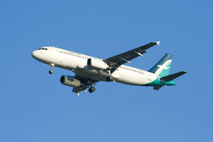 9V-SLE Airbus A320-200 of Silkair Royalty Free Stock Photos