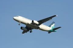 9V-SLF Airbus A320-200 de Silkair Foto de Stock