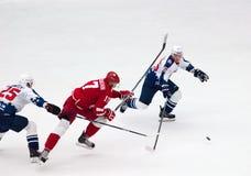 V Solodukhin (17) contra A Alyayev (45) Fotografia de Stock