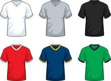 V-Stutzen T-Shirts Stockfoto