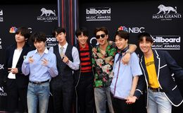 V, SUGA, Jin, Jung Kook, RM, Jimin, j-esperança do BTS imagem de stock royalty free