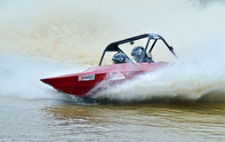 V8 Super boat speedboat racing high speed New Zealand Royalty Free Stock Photos