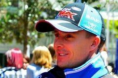 V-8 Supercars冠军司机在奥克兰遇见Motorsport狂热爱好者, 免版税库存照片