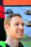 V-8 Supercars冠军司机在奥克兰遇见Motorsport狂热爱好者, 库存图片