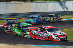 V8-Supercars bei Sandown Lizenzfreies Stockfoto