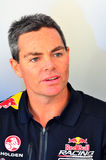 V8 Supercars champion drivers meet Motorsport fans in Auckland,. AUCKLAND - NOV 05 2015:V8 Supercars champion driver Craig Lowndes meet Motorsport fans in royalty free stock images
