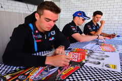 V8 Supercars champion drivers meet Motorsport fans in Auckland, Royalty Free Stock Image