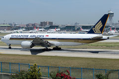 9V-SVC Singapore Airlines, Boeing 777-212/ER Royalty Free Stock Photography