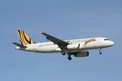 9V-TAC Airbus A320-200 de Tigerair Fotografía de archivo libre de regalías