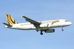 9V-TAC Airbus A320-200 of Tigerair Stock Image