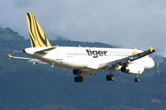 9V-TAC Airbus A320-200 of Tigerair Stock Images