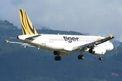 9V-TAC Airbus A320-200 of Tigerair Stock Images