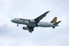 9V-TAQ Airbus A320-200 de Tiger Air Imagens de Stock Royalty Free
