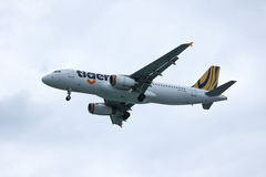 9V-TAQ  Airbus A320-200 of Tiger Air. Royalty Free Stock Images