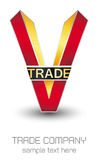 V TRADE - LOGO Stock Images