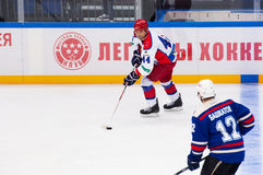 V. Tsyplakov (44) dribble Stock Photo