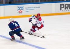 V. Tsyplakov (44) versus A. Sivov (3) Stock Photo