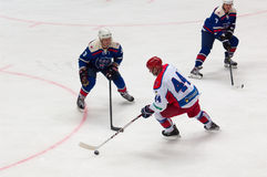 V. Tsyplakov (44) vs A. Sivov (3) and P. Cherenkov (7) Royalty Free Stock Photos