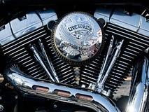 V-tweeling motorfietsmotor Stock Foto's