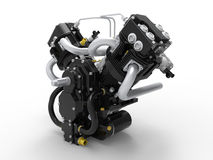V-twin engine Stock Photo