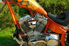 V-twin motorcycle engine Stock Image